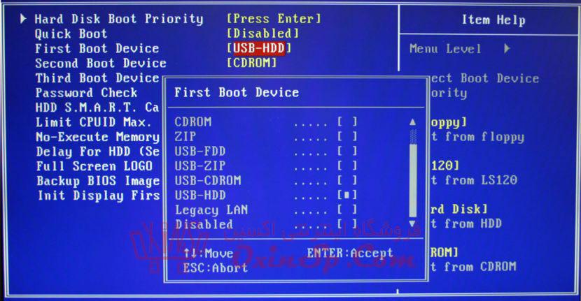 بوت کامپیوتر و لپ تاپ